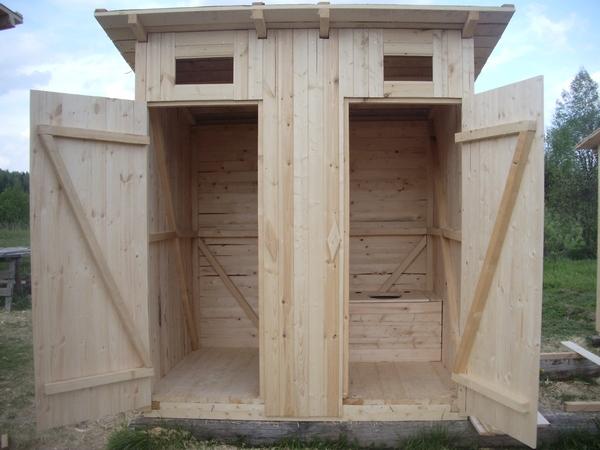 Туалеты для дачи своими руками из дерева фото чертежи 460