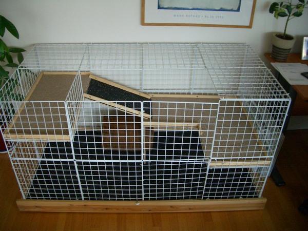 Клетка для кошки своими руками пошагово
