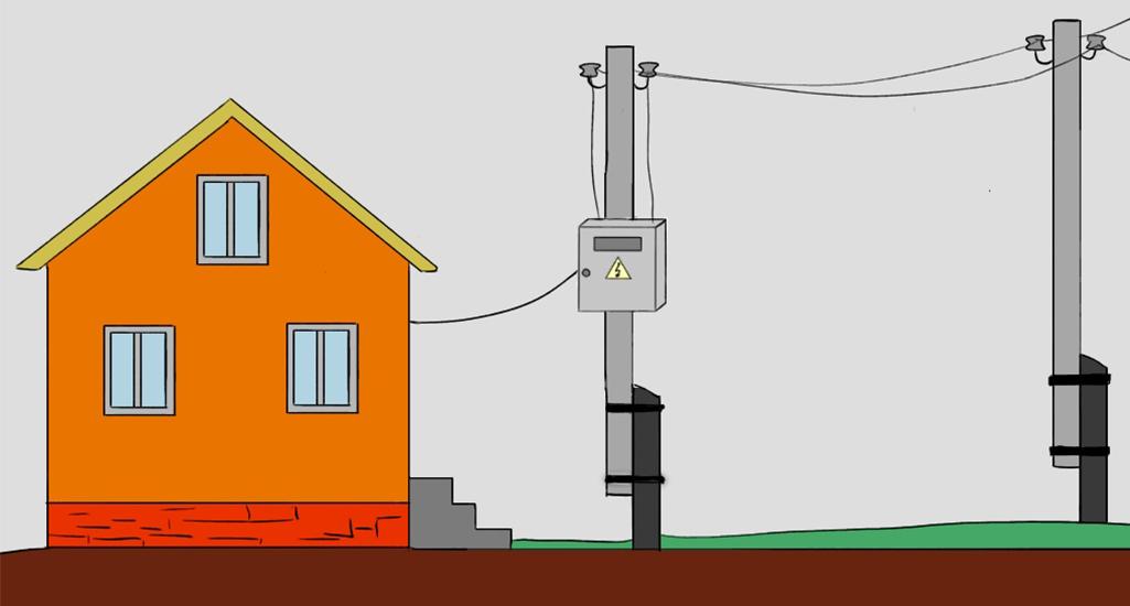 Как подвести электричество к дому