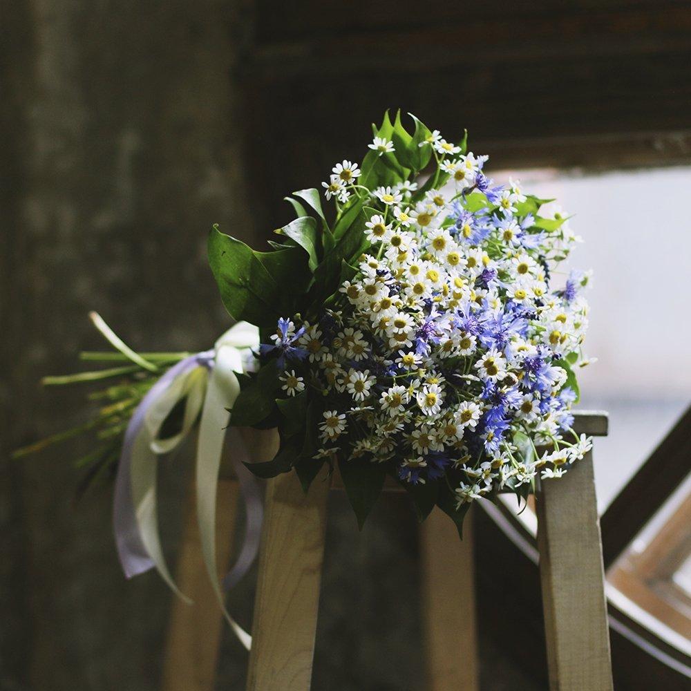 Свадебные букеты.